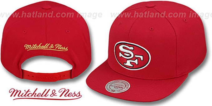 reputable site 7845a 99438 49ers 'THROWBACK-BASIC SNAPBACK' Red Hat by Mitchell and Ness