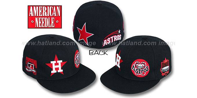 Houston Astros Bigfoot Fitted Hat By American Needle Black