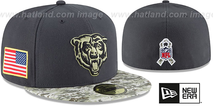 premium selection 65734 6b9b3 Bears '2016 SALUTE-TO-SERVICE' Grey-Desert Fitted Hat by New Era