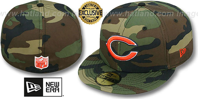 huge discount 348ec 49f5a Bears 'NFL TEAM-BASIC' Army Camo Fitted Hat by New Era