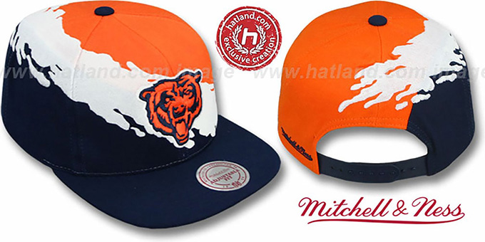 hot sale online f1949 4aa1a Bears 'PAINTBRUSH SNAPBACK' Orange-White-Navy Hat by Mitchell and Ness