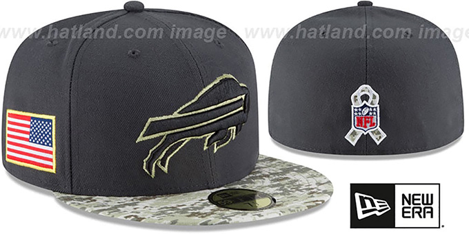 official photos 0865f c0a68 Bills '2016 SALUTE-TO-SERVICE' Grey-Desert Fitted Hat by New Era
