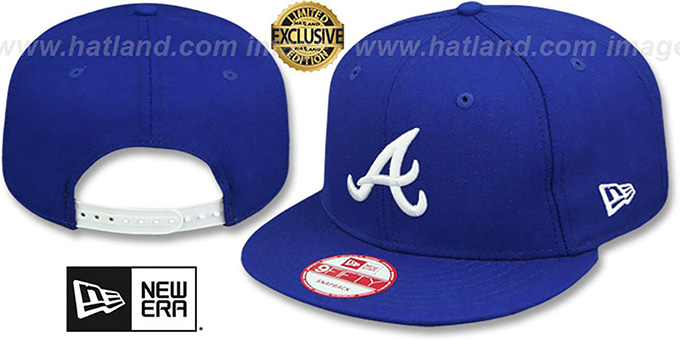 MLB Atlanta Braves Light Royal with White 59FIFTY Fitted Cap