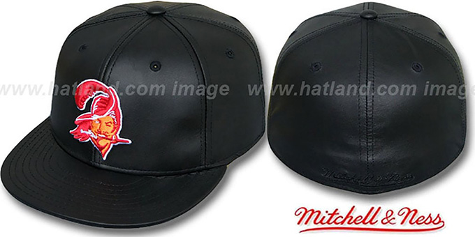 Tampa Bay Buccaneers Leather Throwback Fitted Hat