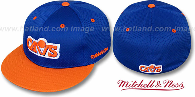 reputable site ce686 26492 Cavaliers '2T BP-MESH' Royal-Orange Fitted Hat by Mitchell & Ness