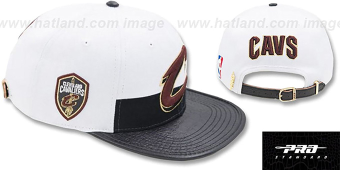 buy good later arrives Cleveland Cavaliers HORIZON STRAPBACK White-Black Hat by Pro Stan