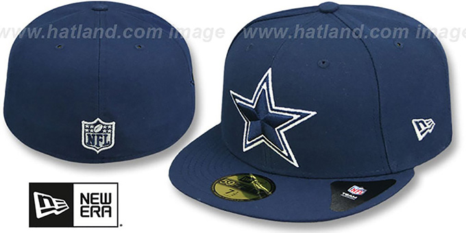 dallas cowboys fitted caps
