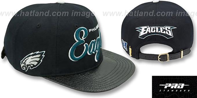 check out 26cf0 1f955 Eagles 'SCRIPT SUPER BOWL LII STRAPBACK' Black Hat by Pro Standard
