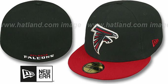 best sneakers d4f89 e5c0f Falcons 'NFL 2T-TEAM-BASIC' Black-Red Fitted Hat by New Era