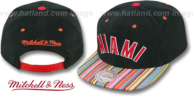 Original Mitchell /& Ness miami heat SnapBack cap nba Navy can