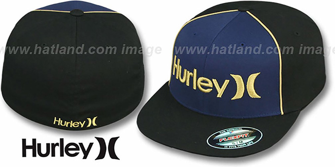cheap discount price choose best Hurley 'ONLY CORP' FLEXFIT Navy-Black Hat