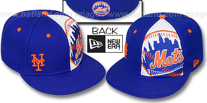 unique design detailed pictures new arrive New York Mets MASCOT-ZOOM Royal Fitted Hat by New Era