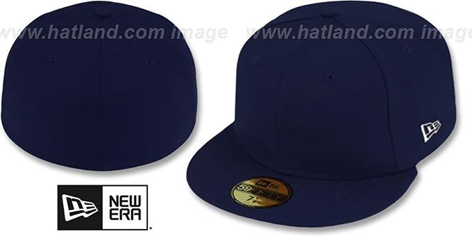 New Era '59FIFTY-BLANK' Dark Navy Fitted Hat