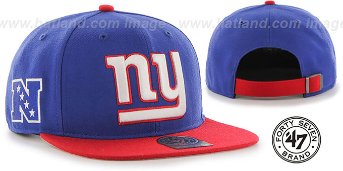 Ny Giants Super Shot Strapback Royal Red Hat By Twins 47 Brand