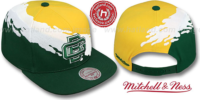pretty nice 08502 e93c3 Packers 'PAINTBRUSH SNAPBACK' Gold-White-Green Hat by Mitchell & Ness