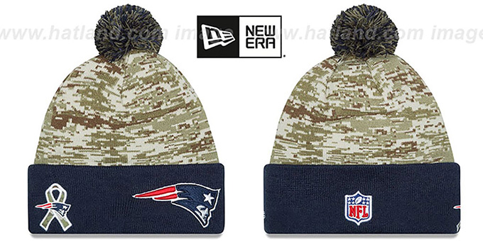 new product cf19b c4684 Patriots '2015 SALUTE-TO-SERVICE' Knit Beanie Hat by New Era