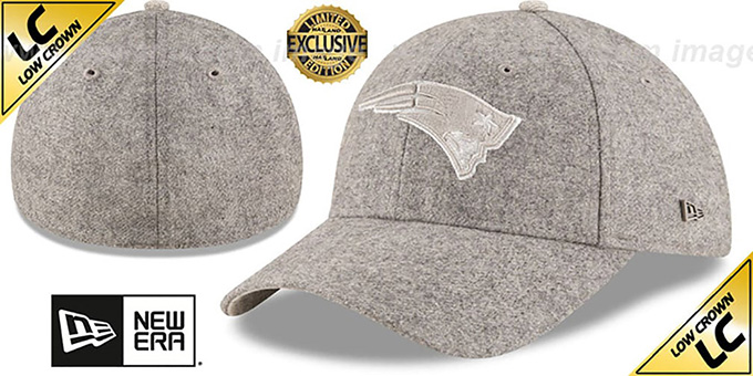 buying now fresh styles size 40 New England Patriots EK MELTON FABRIC MIX Grey Hat