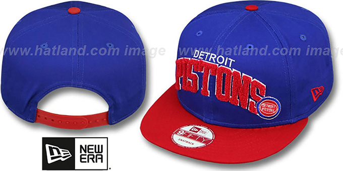 best selling pre order factory price Detroit Pistons CHENILLE-ARCH SNAPBACK Royal-Red Hat