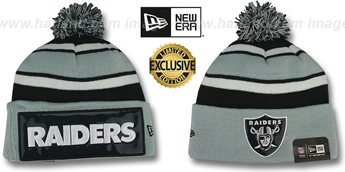Oakland Raiders Throwback Big Screen Knit Beanie Hat
