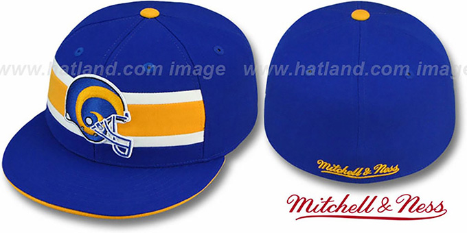 best cheap c901c 42880 Rams 'THROWBACK TIMEOUT' Royal Fitted Hat by Mitchell and Ness