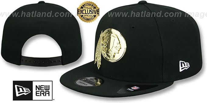 na stopach o najlepsza strona internetowa kupować Redskins 'GOLD METAL-BADGE SNAPBACK' Black Hat by New Era