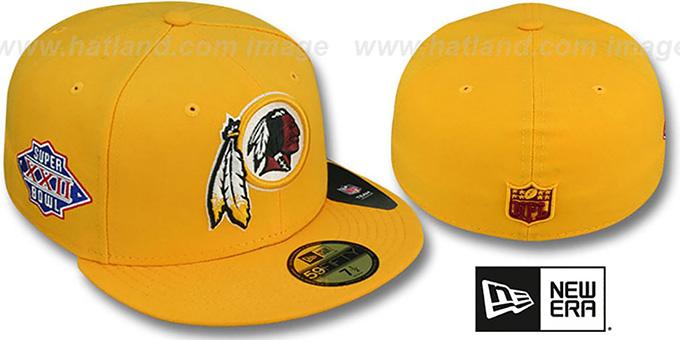 nowa wysoka jakość ponadczasowy design konkurencyjna cena Redskins 'SUPER BOWL XXII' Gold Fitted Hat by New Era