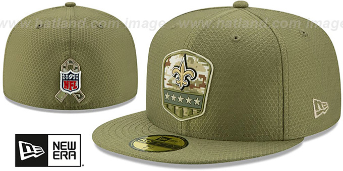 New Orleans Saints New Era Salute to Service Damen M/ütze