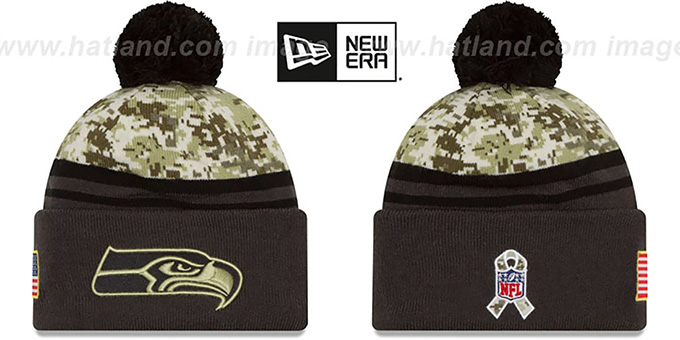 sports shoes fe403 77270 Seahawks '2016 SALUTE-TO-SERVICE' Knit Beanie Hat by New Era