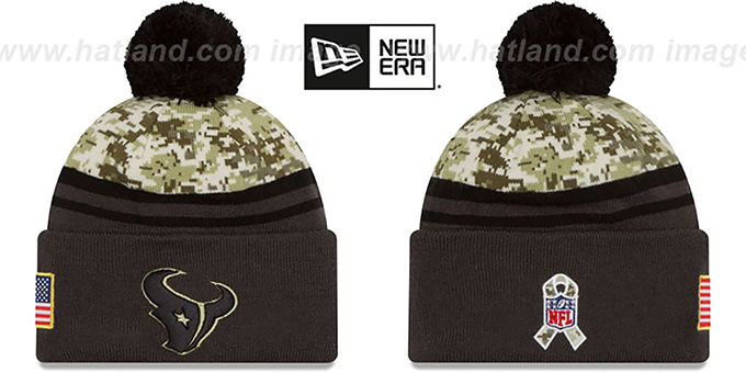 best sneakers a8eee 173e8 Texans '2016 SALUTE-TO-SERVICE' Knit Beanie Hat by New Era