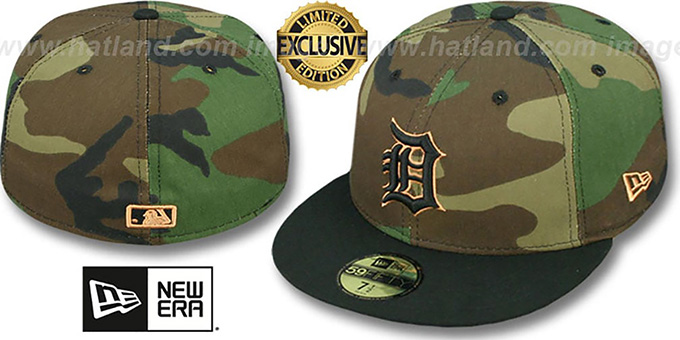 Woodland New Era Camouflage Detroit Tigers 59fifty Cap