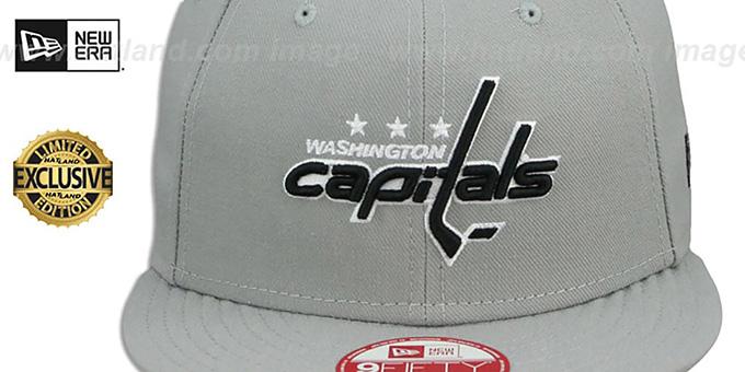 Capitals /'TEAM-BASIC SNAPBACK/' Grey-Black Hats by New Era