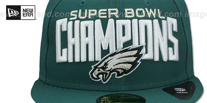 more photos 80fd3 4dabe Eagles 'SUPER BOWL LII CHAMPIONS' Green Fitted Hat by New Era