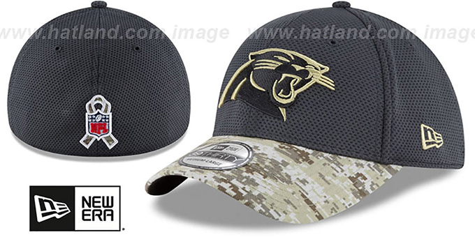 half off 5a523 01ec9 Panthers '2016 SALUTE-TO-SERVICE FLEX' Grey-Desert Hat by New Era
