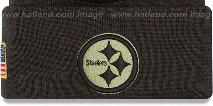 online retailer 98dd3 4c855 Steelers '2016 SALUTE-TO-SERVICE' Knit Beanie Hat by New Era