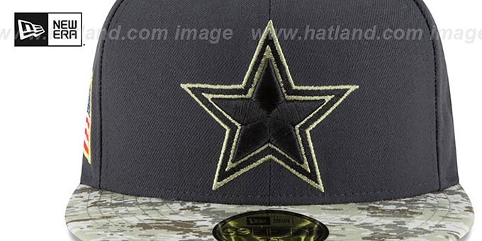 discount 09336 02a9b Cowboys 2016 KIDS SALUTE-TO-SERVICE Grey-Desert Fitted Hat