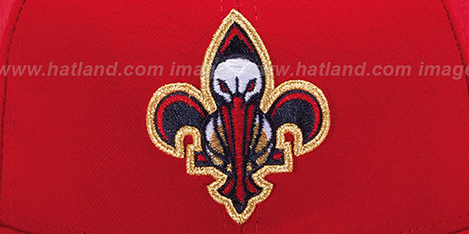 Pelicans Inaugural Fleur De Lis Red Fitted Hat By New Era
