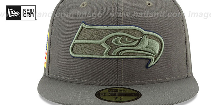 timeless design 286c5 8af2f Seahawks '2017 SALUTE-TO-SERVICE' Green Fitted Hat by New Era