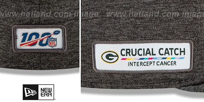Green Bay Packers Onfield Crucial Catch Grey Fitted Hat