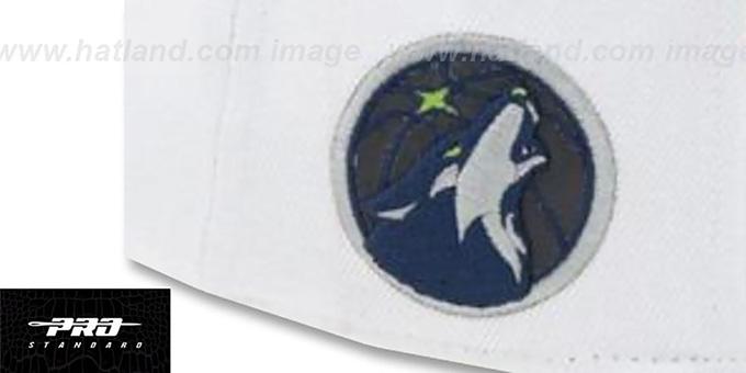 Minnesota Timberwolves Horizon Strapback White Hat By Pro Standar